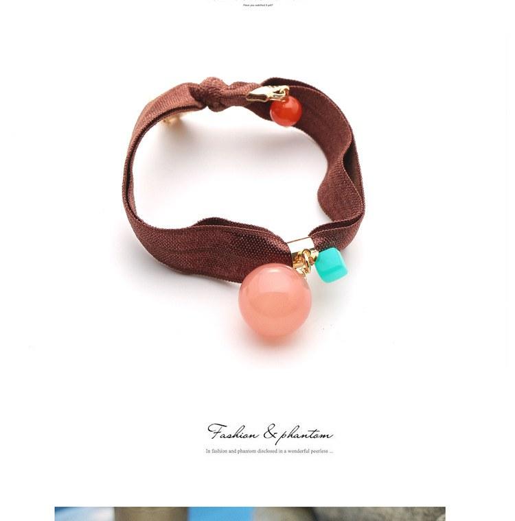 w1380 - Hair Accessories,ที่คาดผม,เครื่องประดับผม,กิ๊ปติดผม,เครื่องประดับ candy-colored ball hair ring
