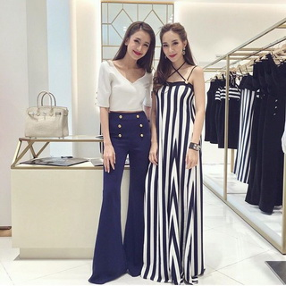 Sevy CTK On The Beach Stripes Off Shoulder Maxi Dress