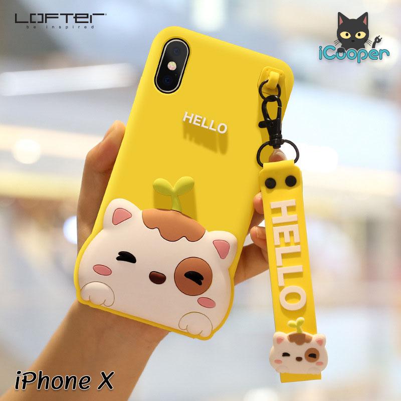 LOFTER Hello Meow Silicone - Yellow (iPhoneX)