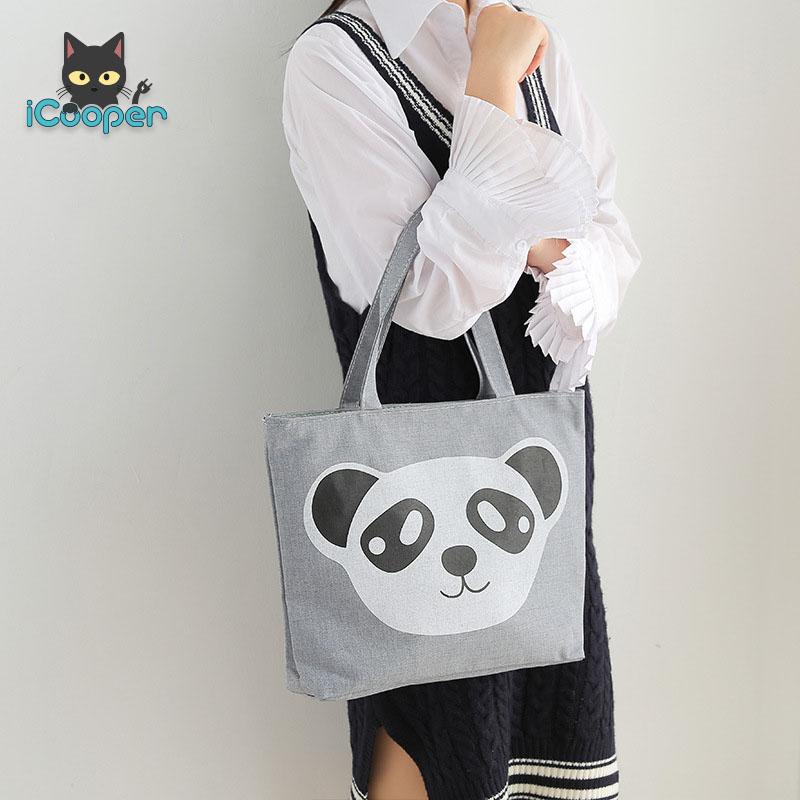 Canvas Handbag (Panda)