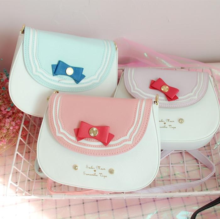 กระเป๋าสะพายข้างหนัง PU (มีให้เลือก 6 สี)