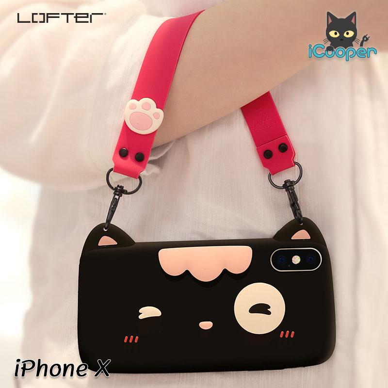 LOFTER Meow Silicone - Black (iPhoneX)
