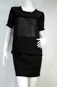 BASSET เสื้อสีดำผ้าชีฟอง