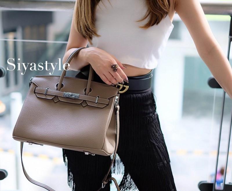 พร้อมส่ง กระเป๋าสะพายข้างผู้หญิง BK super 25 cm [สีกากี]