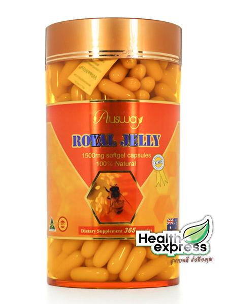 Ausway Royal Jelly 1500 mg. ออสเวย์ โรยัล เจลลี่ บรรจุ 365 แคปซูล