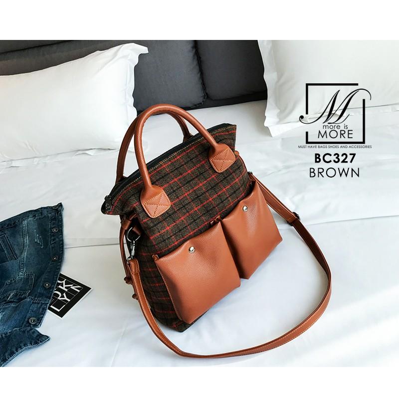 กระเป๋าสะพายกระเป๋าถือ แฟชั่นนำเข้าแบรนด์ BEIBAOBAO ดีไซน์เก๋ส์ BC327-BRO [สีน้ำตาล]