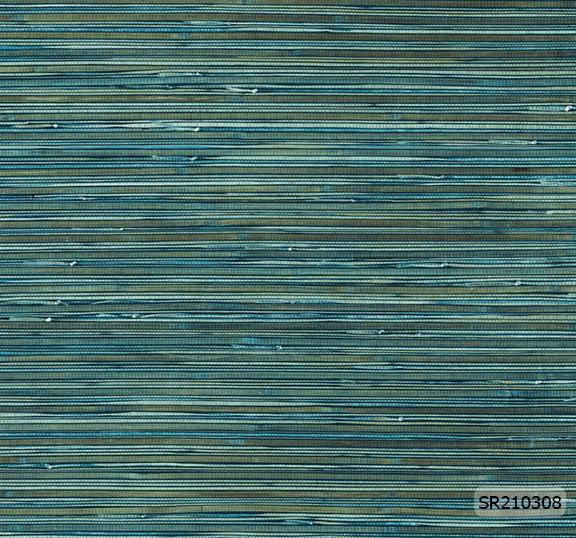 วอลเปเปอร์ลายเส้นโมเดิร์น สีเขียว-น้ำเงิน