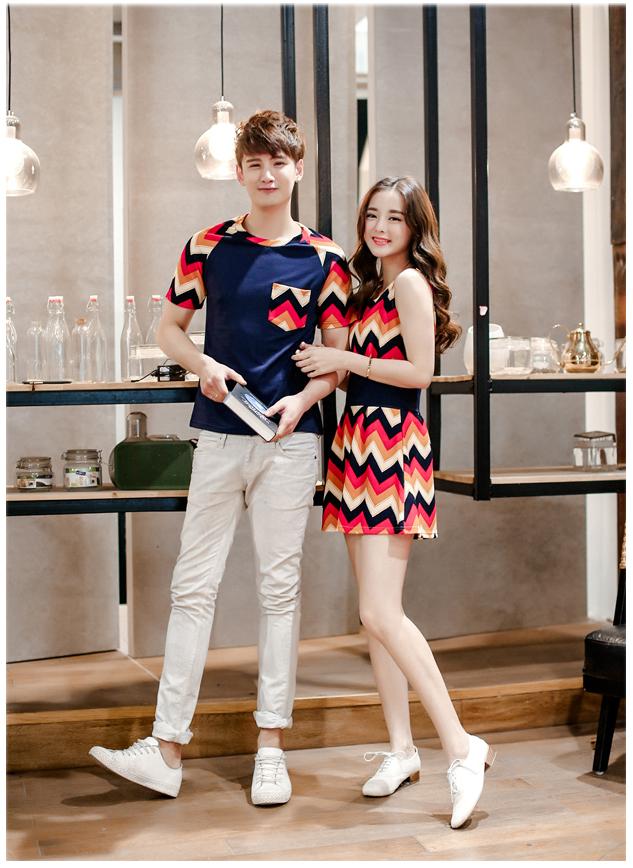 ชุดคู่รักแฟชั่นเกาหลีน่ารักๆ