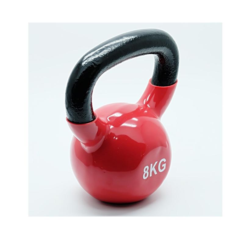 kettlebell อุปกรณ์ยกน้ำหนัก 8 kg. สีแดง (หุ้มยาง)