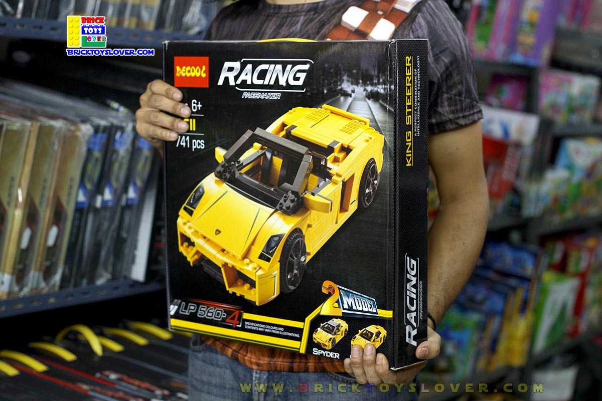 8611 ตัวต่อ Racing Pacemaker รถสปอร์ต Lamborghini Gallardo สีเหลือง
