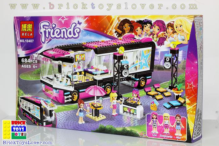10407 Friends เลโก้จีน Pop Star Bus รถบัสทัวร์คอนเสิร์ตของ 3 สาว