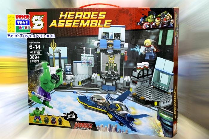 SY328 Heroes Assemble ฮัลค ธอร์ โลกิ และห้องแลปทีม Avengers