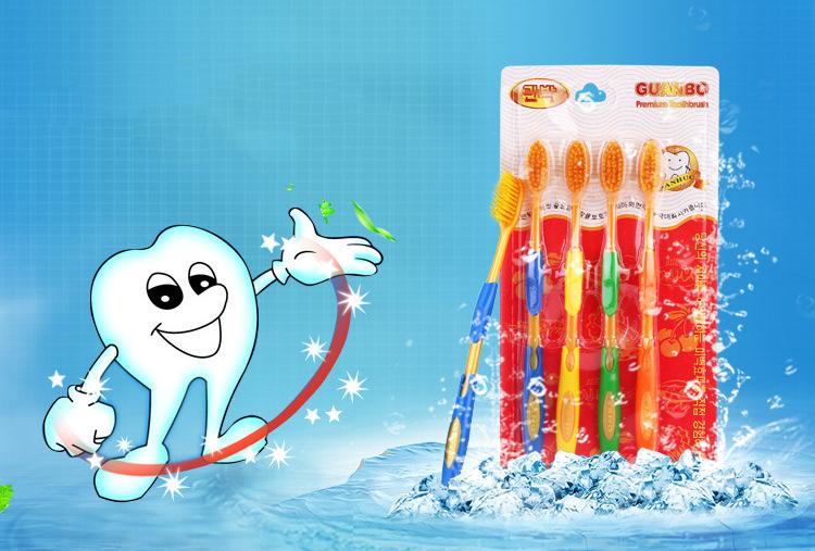 แปรงสีฟันแพค 4