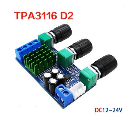 TPA3116 D2 สเตอริโอ 100 วัตต์ ( RMS ) พร้อมชุดโทนคอนโทรล