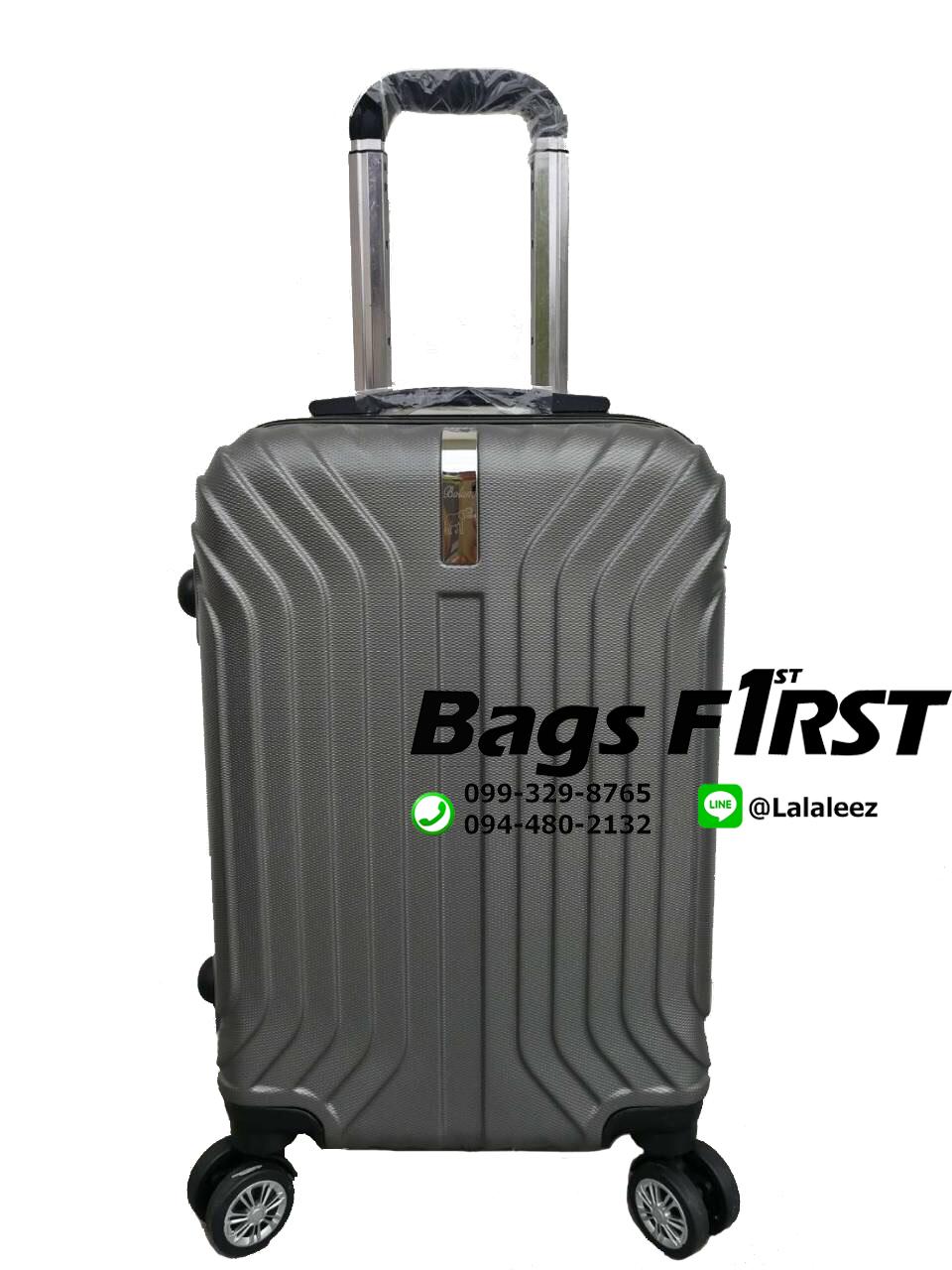 กระเป๋าเดินทาง ไซส์ 20 นิ้ว 4 ล้อลาก สีเทาเข้ม (ขายส่ง)
