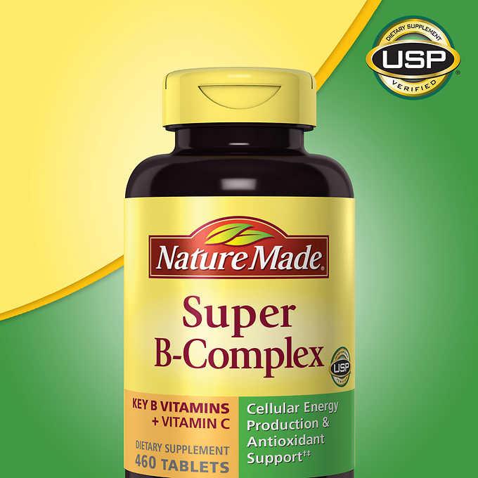 Nature Made Super B Complex วิตามินบีรวม 460 เม็ด จากอเมริกาค่ะ