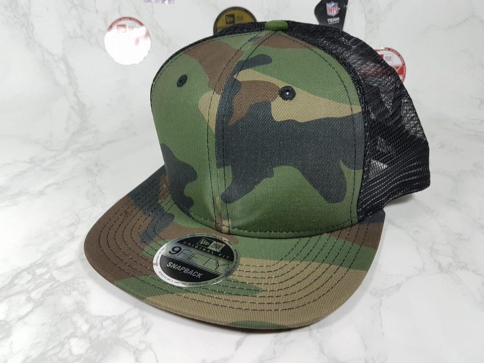 New Era Ttucker ลาย Camo ฟรีไซส์ Snapback 57-60cm