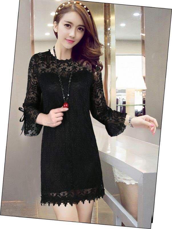 ชุดเดรสลูกไม้สีดำ เดรสสีดำ สนใจสั่งซื้อ Line id:@deeday โทร 091-0699618