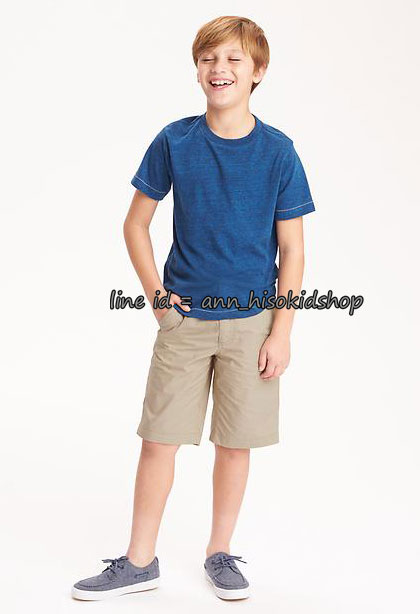 1766 Old navy Flat-Front Twill Shorts - Khaki ขนาด 12 ปี
