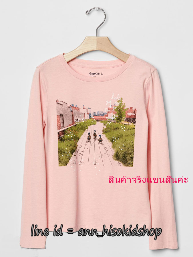 1848 Gap Kids T-Shirt - Pink ขนาด 10,12 ปี