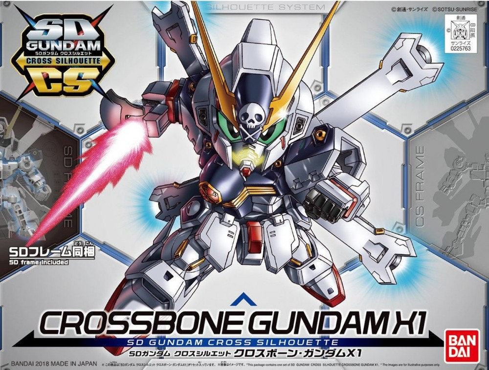 SD CS 02 Crossbone Gundam X1 800yen