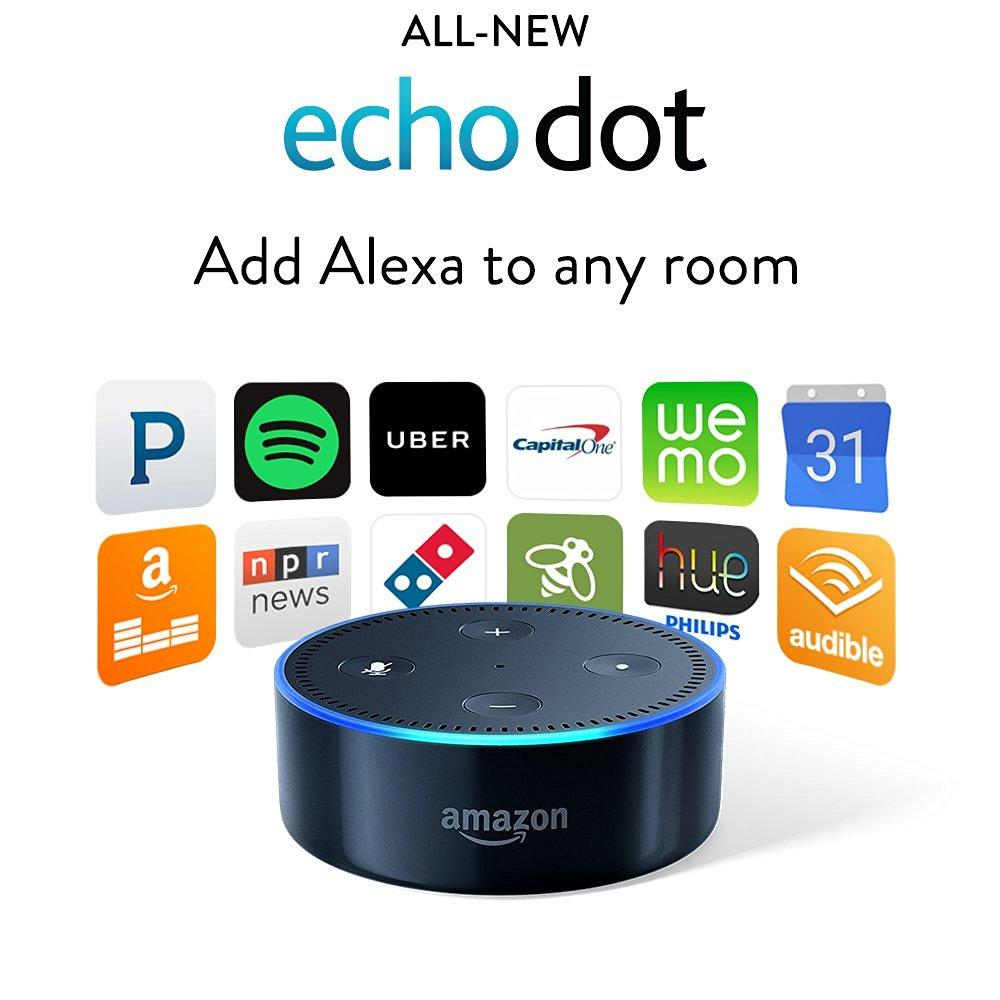 Black 2nd Generation Amazon Echo Dot Smart Speaker with Alexa