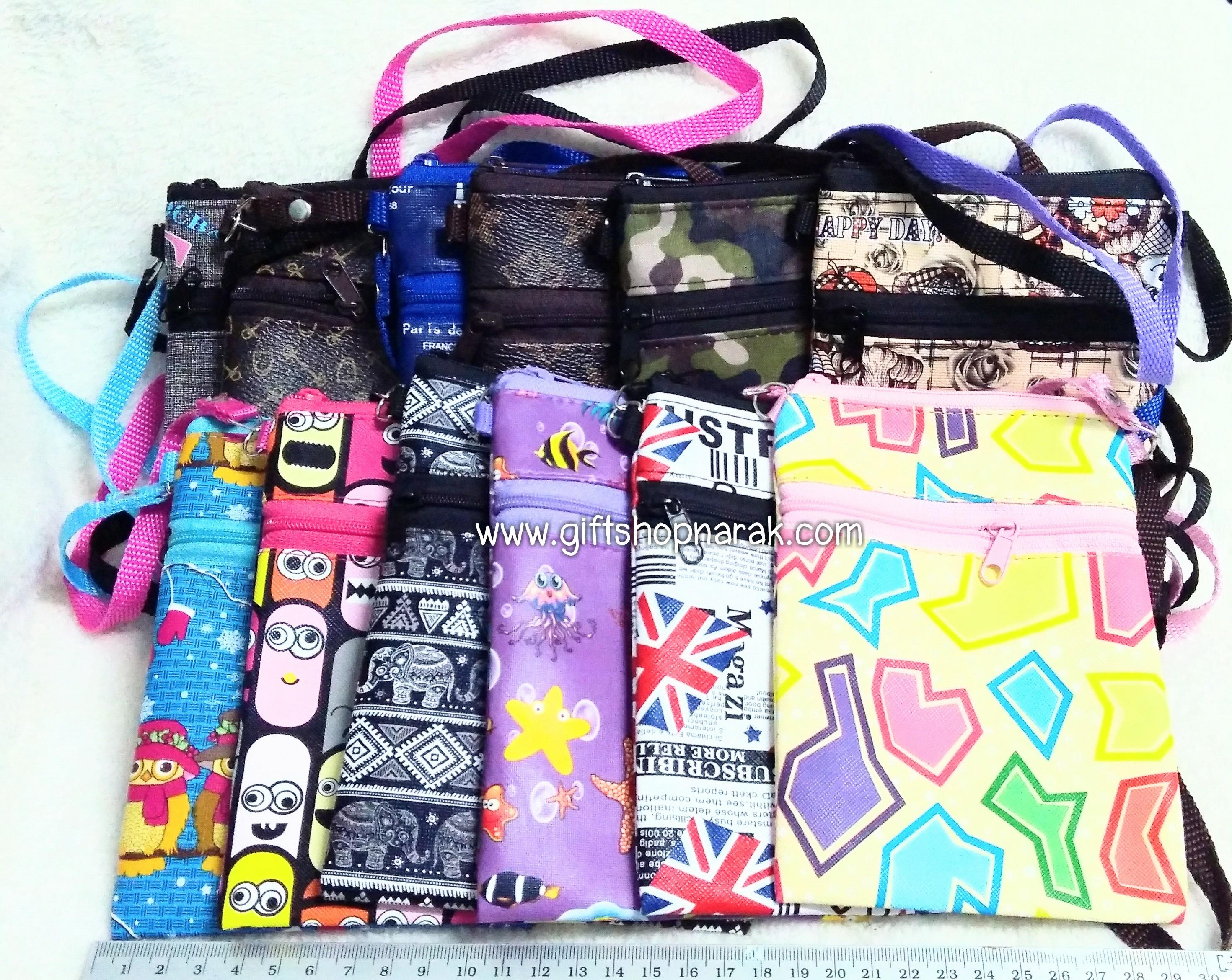 กระเป๋าใส่มือถือมีสายห้อยคอ โหลละ 160 บาท