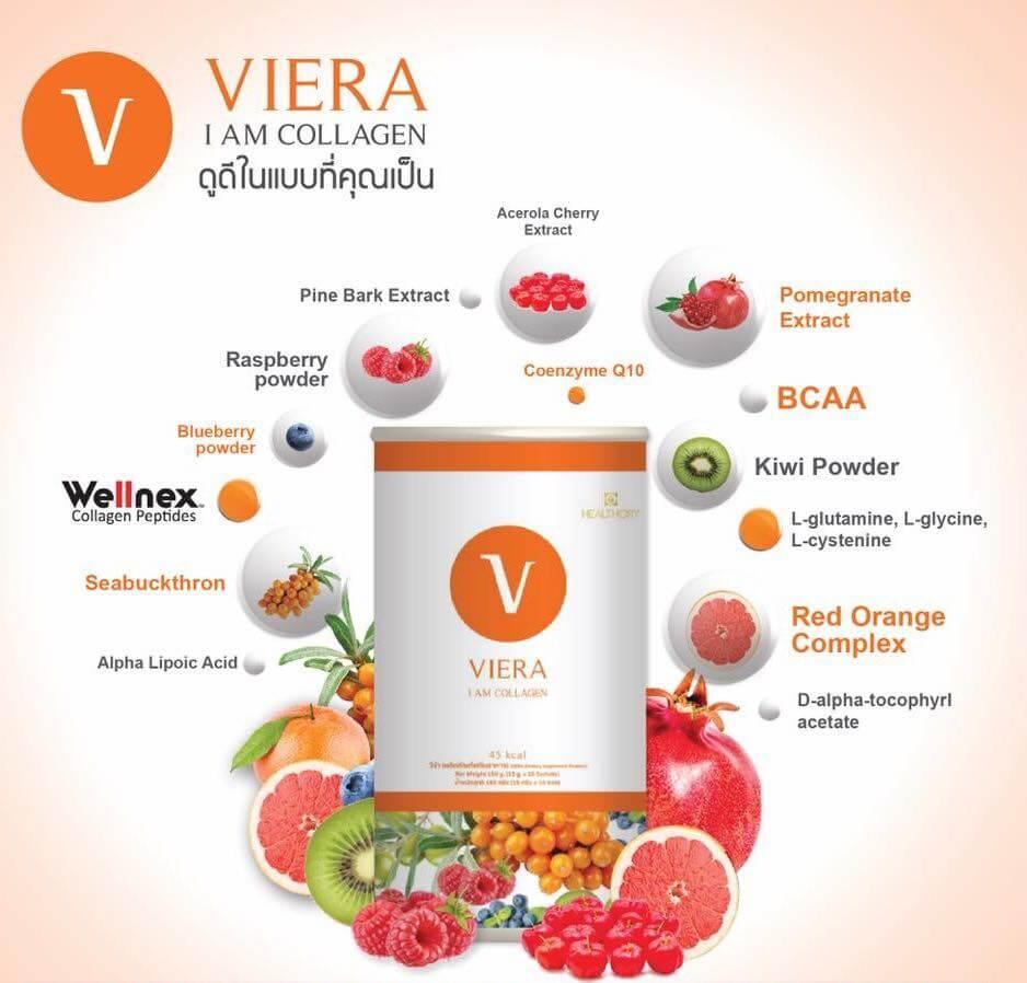 ส่วนผสมใน Viera Collagen ถูกคัดมาเป็นอย่างดี