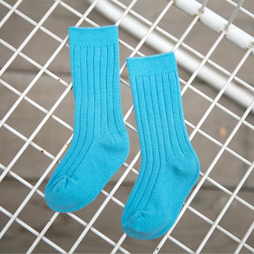 ถุงเท้ายาว สีน้ำเงิน แพ็ค 12 คู่ ไซส์ L (อายุประมาณ 6-8 ปี)