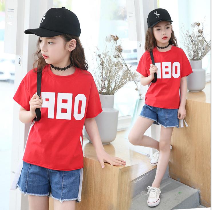 เสื้อ สีแดง แพ็ค 5 ชุด ไซส์ 120-130-140-150-160 (เลือกไซส์ได้)