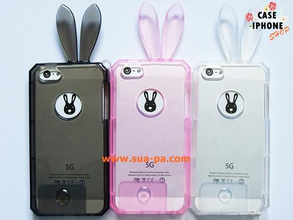 เคสยางคริสตัลใส กระต่ายน้อย ไอโฟน 4/4s