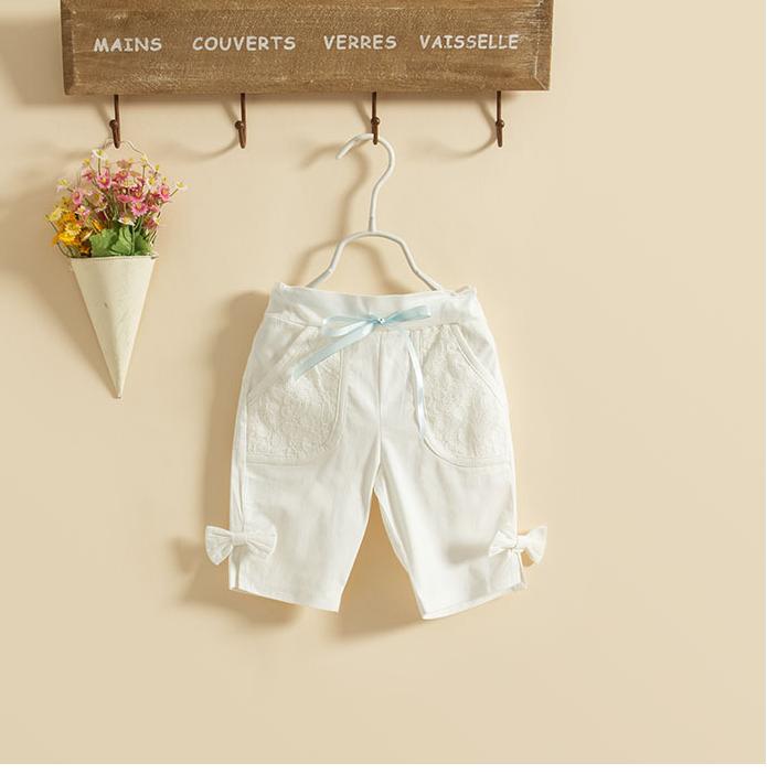 กางเกง สีขาว แพ็ค 5ชุด ไซส์ 100-110-120-130-140