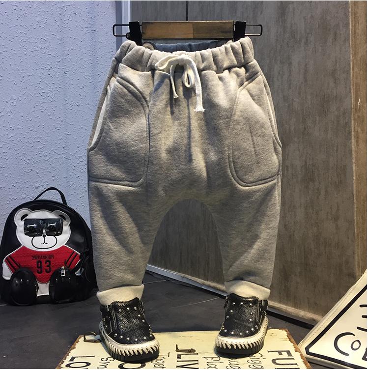 กางเกง (ด้านในมีขน) สีเทา แพ็ค 5 ชุด ไซส์ 7-9-11-13-15