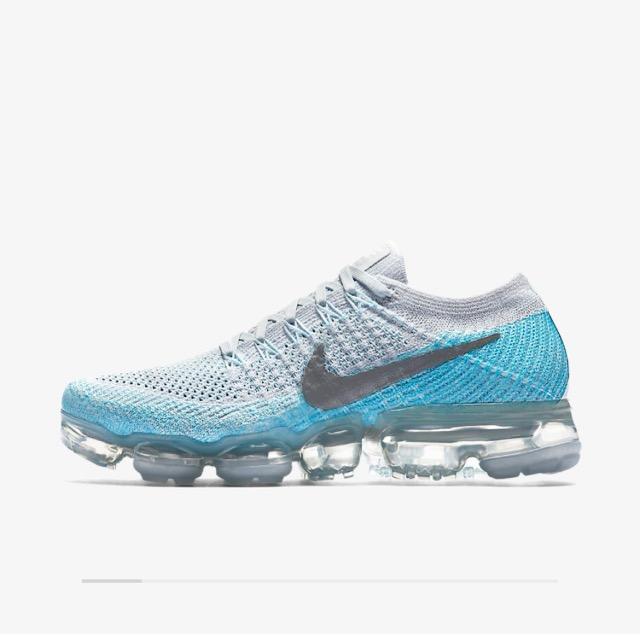 Nike Air VaporMax Colour Pure Platinum/Glacier Blue/Polarised Blue/Metallic Silver. .