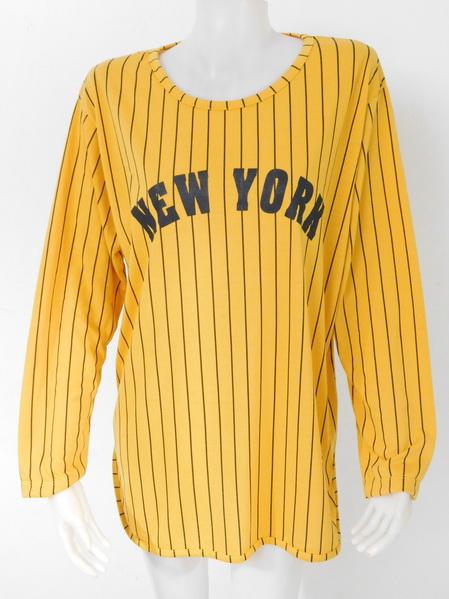 1009238 ขายส่งเสื้อผ้าแฟชั่นเสื้อยืดแขนยาว ผ้าเนื้อดีใส่สบายๆค่ะ งานสวยค่ะ รอบอก 40 นิ้ว/ฟรีไซส์ ยาว 31 นิ้ว