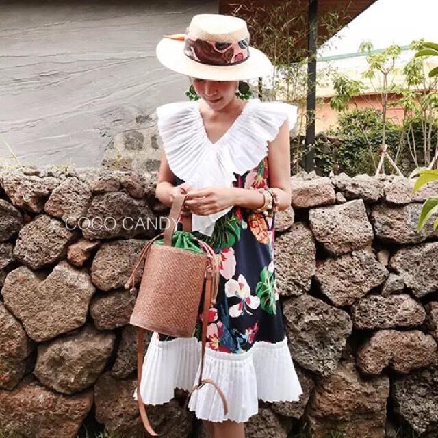 ชุดเดรส Summer Macawbird Pleats Dress