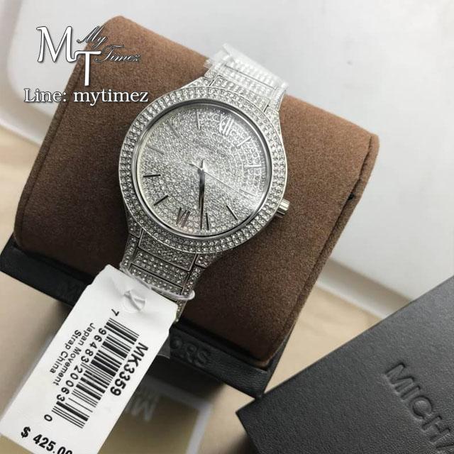 นาฬิกาข้อมือ MICHAEL KORS รุ่น Kerry Crystal Pave Stainless Steel Ladies Watch MK3359