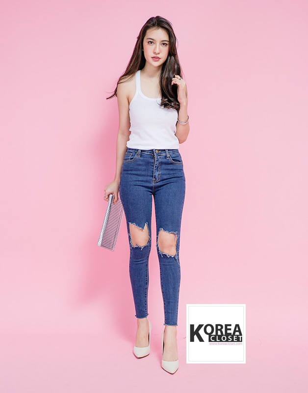 Open knees jeans