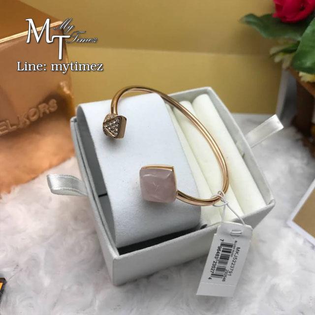 Michael Kors Rose Gold Tone Pyramid Open Cuff Bracelet Mkj5223791