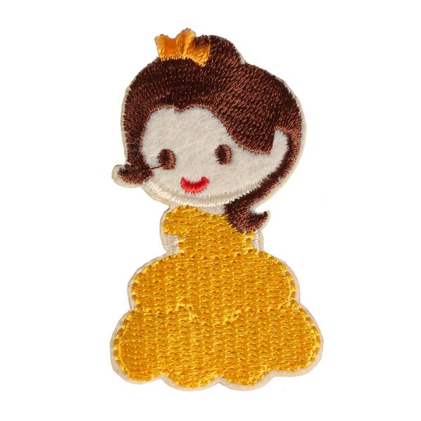 S0055 Belle Disney Princess Patch 3.5x6.2cm