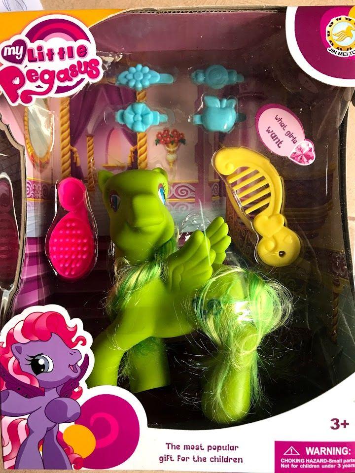ม้าโพนี่ มี 2 สี เหลือง เขียว