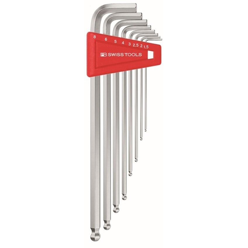 หกเหลี่ยมชุด PB Swiss Tools หัวบอล ยาว รุ่น PB 212 LH-6 (7 ตัว/ชุด)