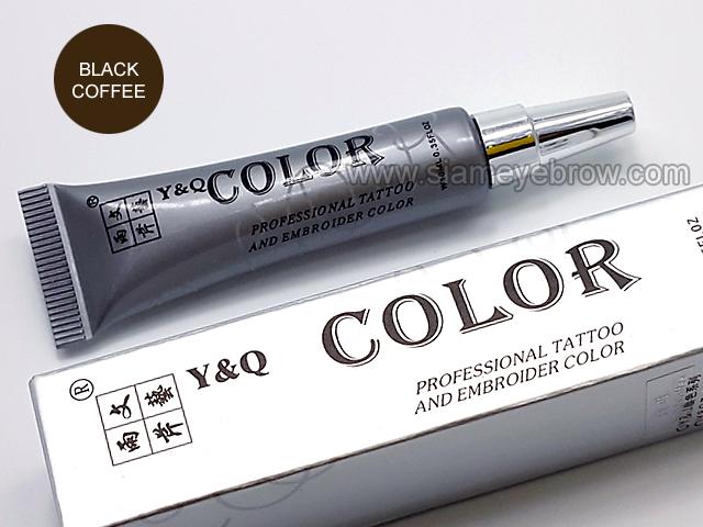 สี Y&Q ชนิดหลอดเงิน สี Black Coffee