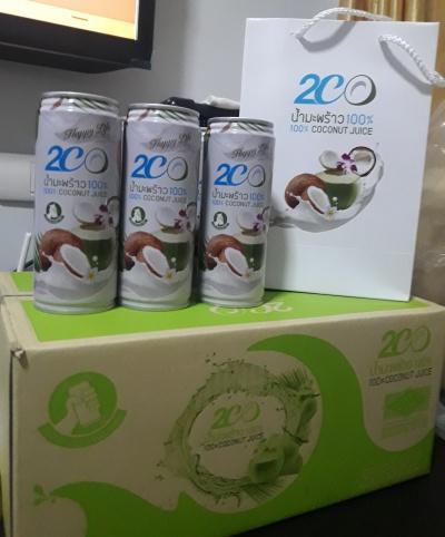 น้ำมะพร้าวผสมน้ำนมมะพร้าว 2CO(ทูซีโอ) เซ็ต 3 กระป๋อง