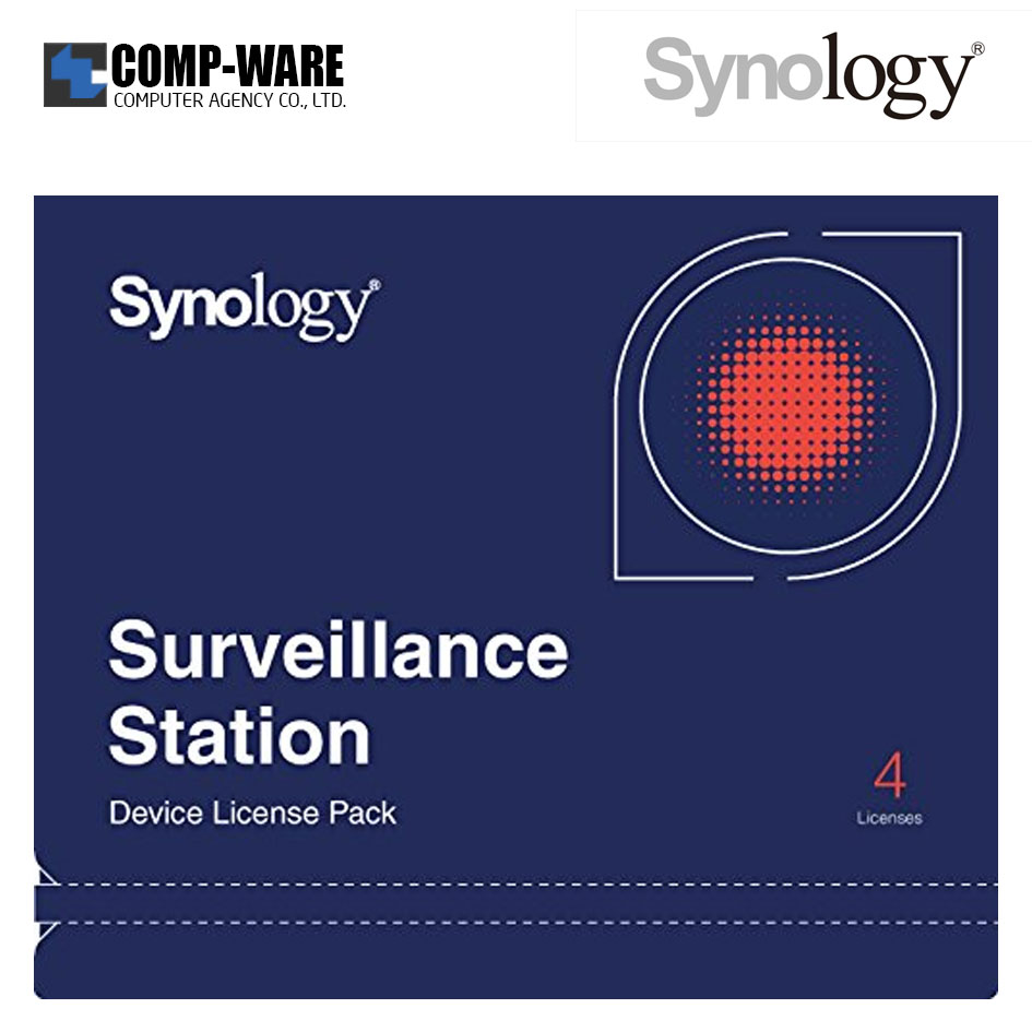 Synology Surveillance Device License Pack 4 (4 license for cameras and I/O modules)