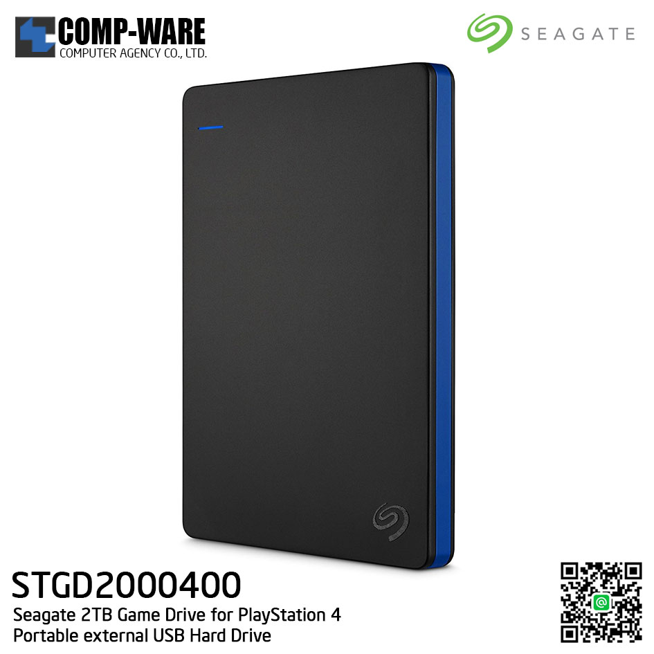 Seagate 2TB Game Drive for PlayStation 4 Portable External USB Hard Drive - STGD2000400