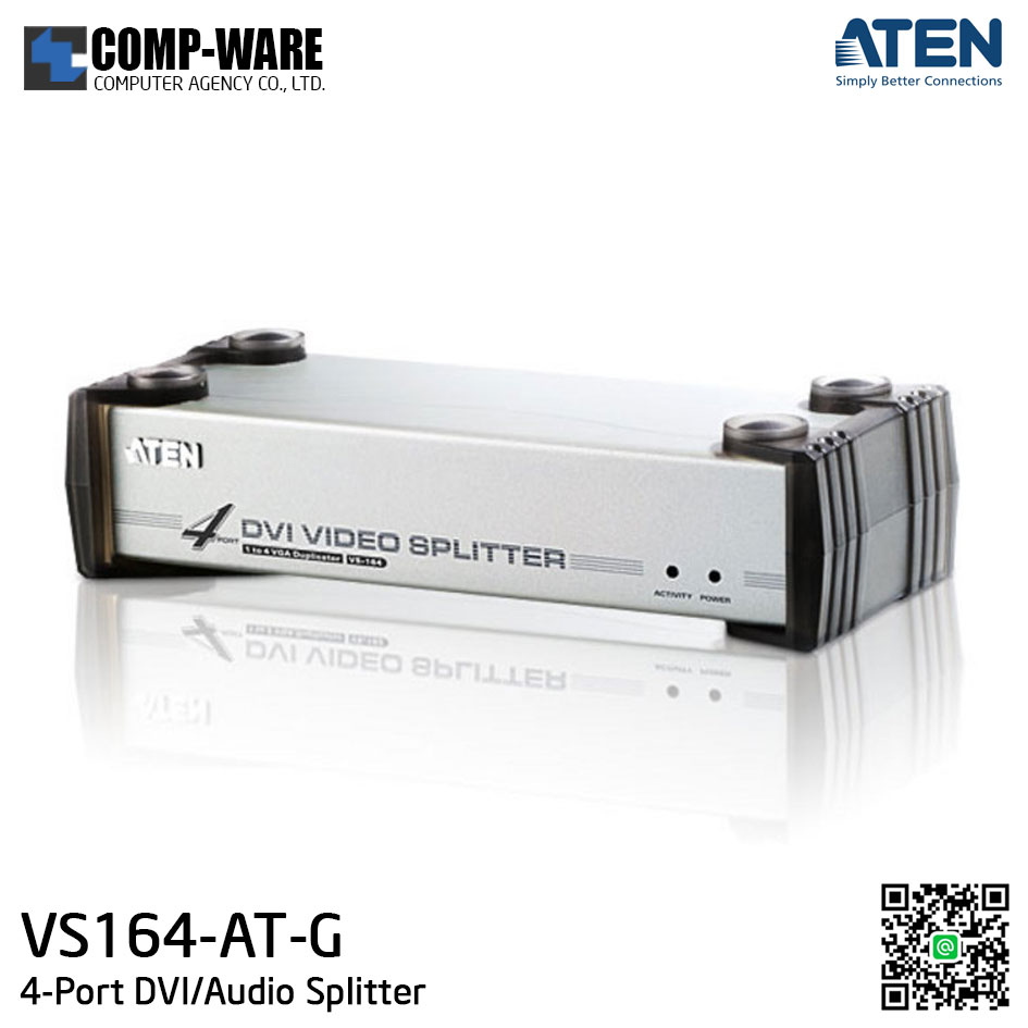 ATEN 4-Port DVI/Audio Splitter VS164-AT-G