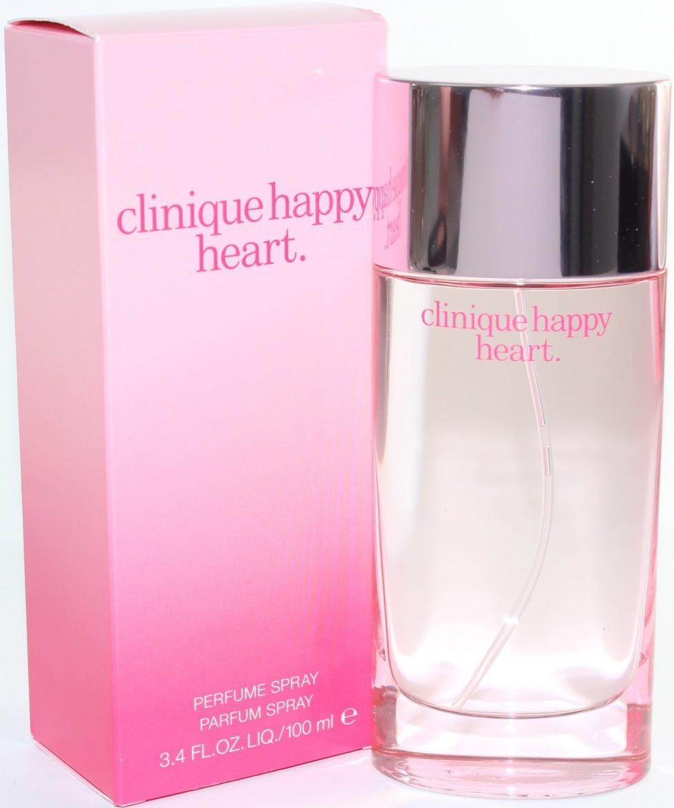 Clinique Happy Heart Eau De Perfume Spray ขนาดปกติ 100 ml. น้ำหอมที่ให้ความหอมของกลีบดอกไม้ ให้กลิ่นสดชื่น สบายของไอเย็นจากยอดเขา เสริมด้วยกลิ่นหวานซ่อนเปรี้ยวของส้ม (Mandarin) พร้อมเพิ่มความโดดเด่นเฉพาะของความเป็นผู้หญิง ด้วยกลิ่นดอกไม้นานาชนิดทั้ง yello