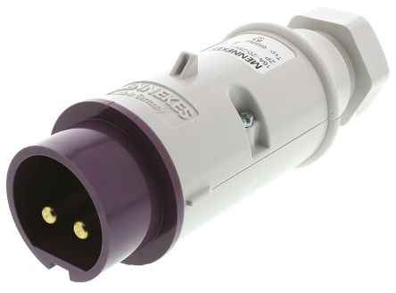 ปลั๊กตัวผู้ connector and inlet for low voltages IP44 16Amp ขั้ว 2P 20-25V