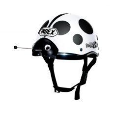 หมวกกันน็อคเด็ก INDEX รุ่น Lady Bug White